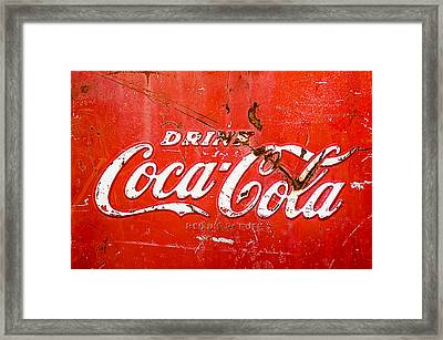 Coca-cola Sign Framed Print by Jill Reger