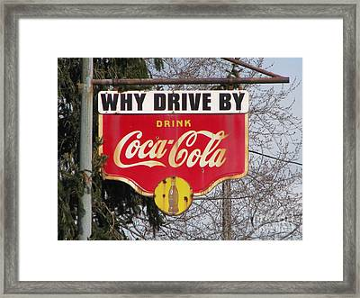 Coca-cola Sign Framed Print