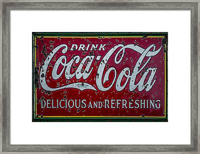 Coca Cola Sign Framed Print by Paul Freidlund