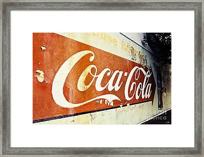 Coca Cola Sign  Framed Print by Scott Pellegrin
