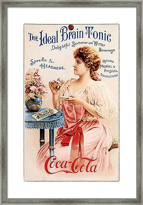 Coca-cola - The Ideal Brain Tonic Framed Print by Gianfranco Weiss