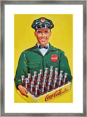 Coca Cola Vintage Framed Print