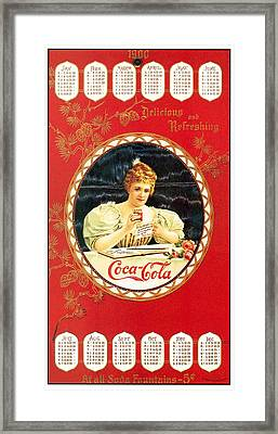Coca - Cola Vintage Poster Calendar Framed Print by Gianfranco Weiss