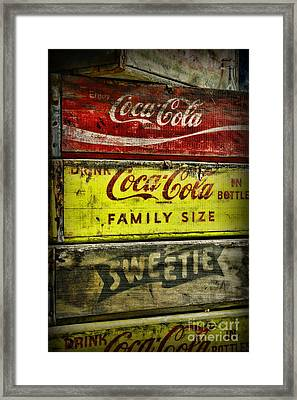 Coca-cola Wooden Crates Framed Print by Paul Ward