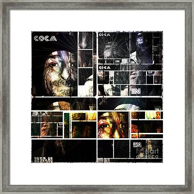 Framed Print featuring the photograph Coca In Part 5 Collage  by Sir Josef - Social Critic - ART