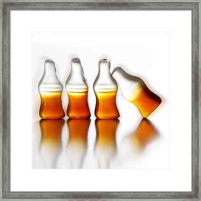 Coca Kiss Framed Print