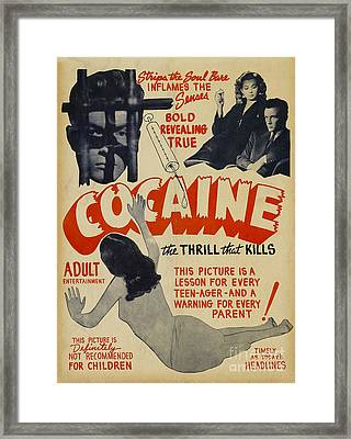 Cocaine Movie Poster Framed Print