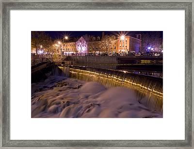 Cocheco River Falls Dover Nh Framed Print