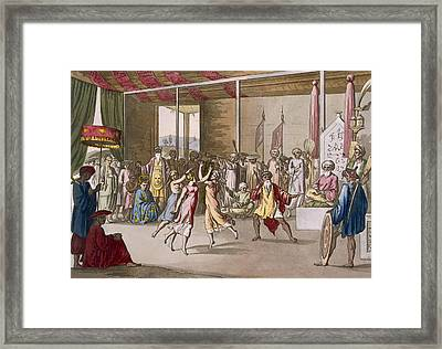 Cochin Chinese Drama, From Costume Framed Print by Angelo Monticelli