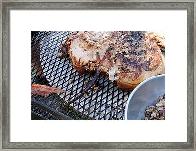 Cochon De Lait -the Tail Framed Print by Bradford Martin