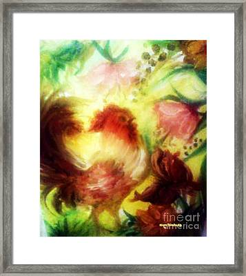 Cock-a-doodle Framed Print by Merry  Blankenship