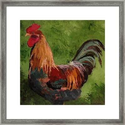 Cock-a-doodle Framed Print