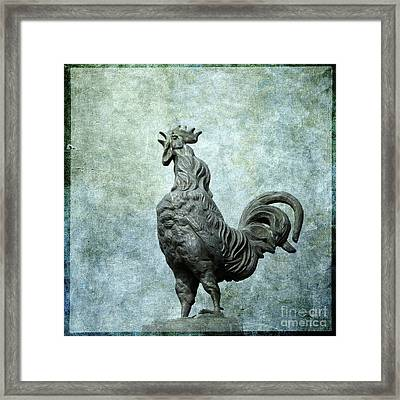 Cock Framed Print by Bernard Jaubert