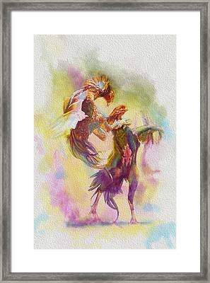 Cock Fight Framed Print by Catf