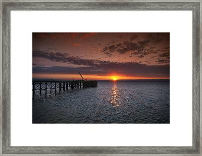 Cockenzie Sunset Framed Print