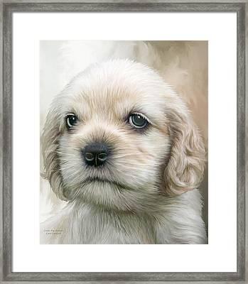 Cocker Pup Portrait Framed Print by Carol Cavalaris