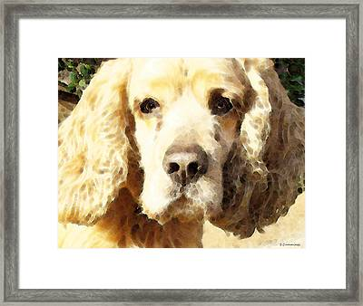 Cocker Spaniel Art - Mellow Yellow Framed Print