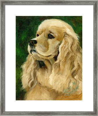 Cocker Spaniel Dog Framed Print by Alice Leggett