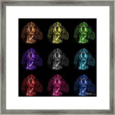 Cocker Spaniel Pop Art - 8249 - Bb - M Framed Print