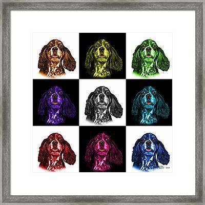 Cocker Spaniel Pop Art - 8249 - V2 - M Framed Print