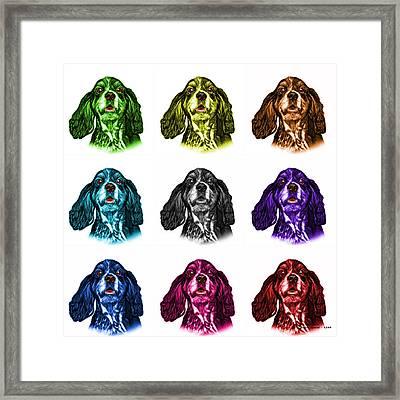 Cocker Spaniel Pop Art - 8249 - Wb - M Framed Print