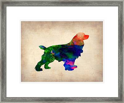 Cocker Spaniel Watercolor Framed Print by Naxart Studio
