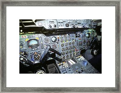 Cockpit Of Concorde Sst - Supersonic Framed Print