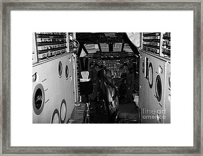 cockpit of the British Airways Concorde Framed Print