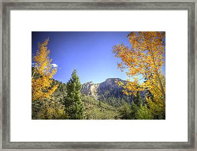Cockscomb Ridge Framed Print