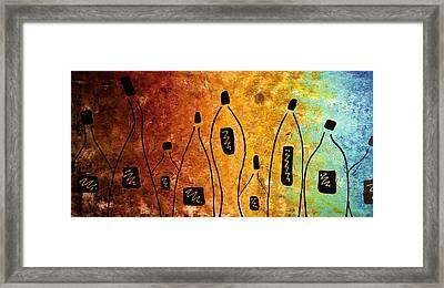 Cocktail Bar Framed Print by Carmen Guedez