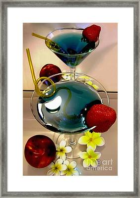 Cocktail By The Spa Framed Print by Kaye Menner