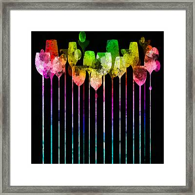 Cocktail Hour 1 Version 4 Framed Print by Angelina Vick