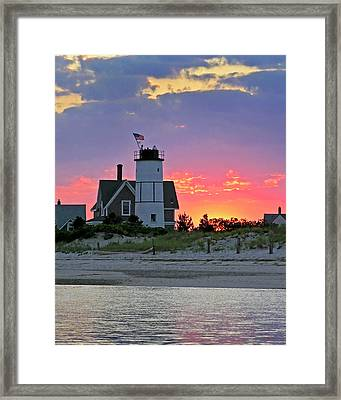 Cocktail Hour At Sandy Neck Lighthouse Framed Print