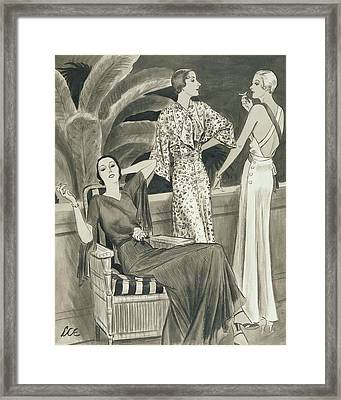 Cocktail Hour In Cannes Framed Print by Creelman