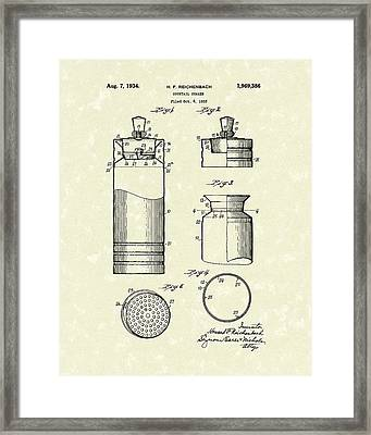 Cocktail Shaker 1934 Patent Art Framed Print