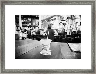 Cocktail Slushie Drink In Sloppy Joes Bar Duval Street Key West Florida Usa Framed Print by Joe Fox