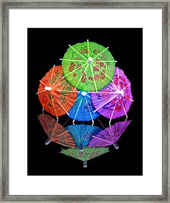 Cocktail Umbrellas Reflected Framed Print by Tom Mc Nemar
