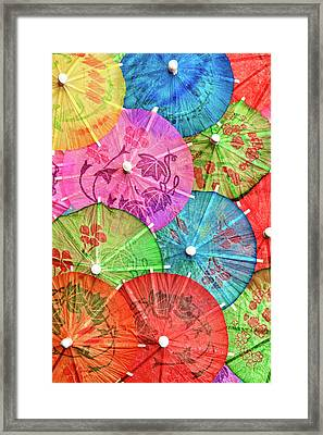 Cocktail Umbrellas Vi Framed Print by Tom Mc Nemar