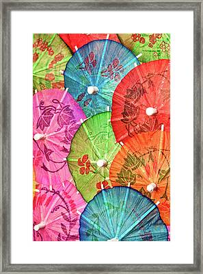 Cocktail Umbrellas Vii Framed Print by Tom Mc Nemar
