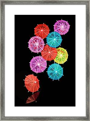 Cocktail Umbrellas Viii Framed Print by Tom Mc Nemar