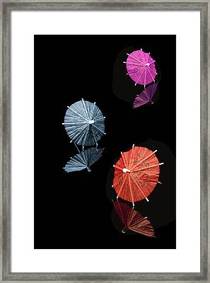 Cocktail Umbrellas Xi Framed Print