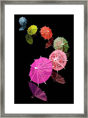 Cocktail Umbrellas Xii Framed Print by Tom Mc Nemar
