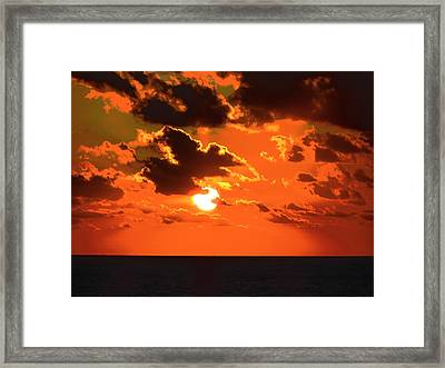 Framed Print featuring the photograph Coco Cay Sunset by Jennifer Wheatley Wolf