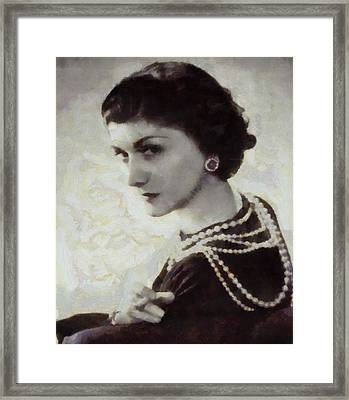 Coco Chanel Framed Print by Dan Sproul