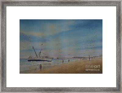 Cocoa Beach Meets Ellen Marie Framed Print by AnnaJo Vahle
