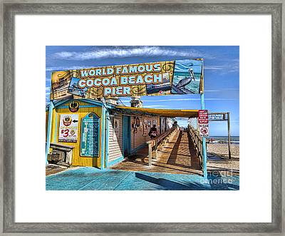 Cocoa Beach Pier In Florida Framed Print by David Smith