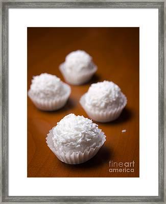Coconut Balls Framed Print