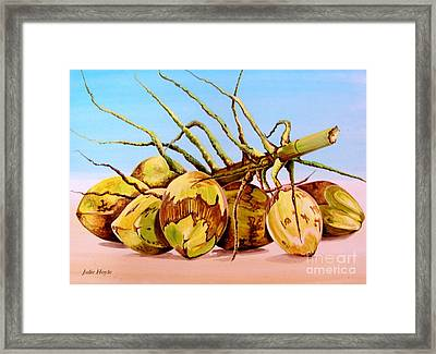Coconut Beach Framed Print
