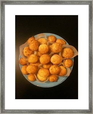 Coconut Biscuits Framed Print by Arual Jay