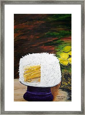 Coconut Cake Framed Print